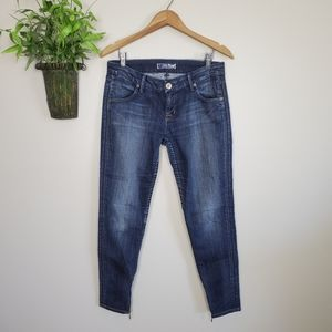 Hudson Skinny Jegging Ankle Zipper Jeans 27 28